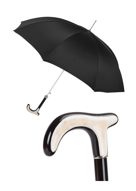 PASOTTI HORN HANDLE CANE UMBRELLA