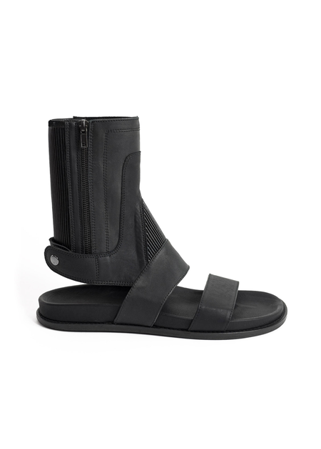 NOSTRA SANTISSIMA SIDE ZIP OPEN TOE GLADIATOR SANDAL
