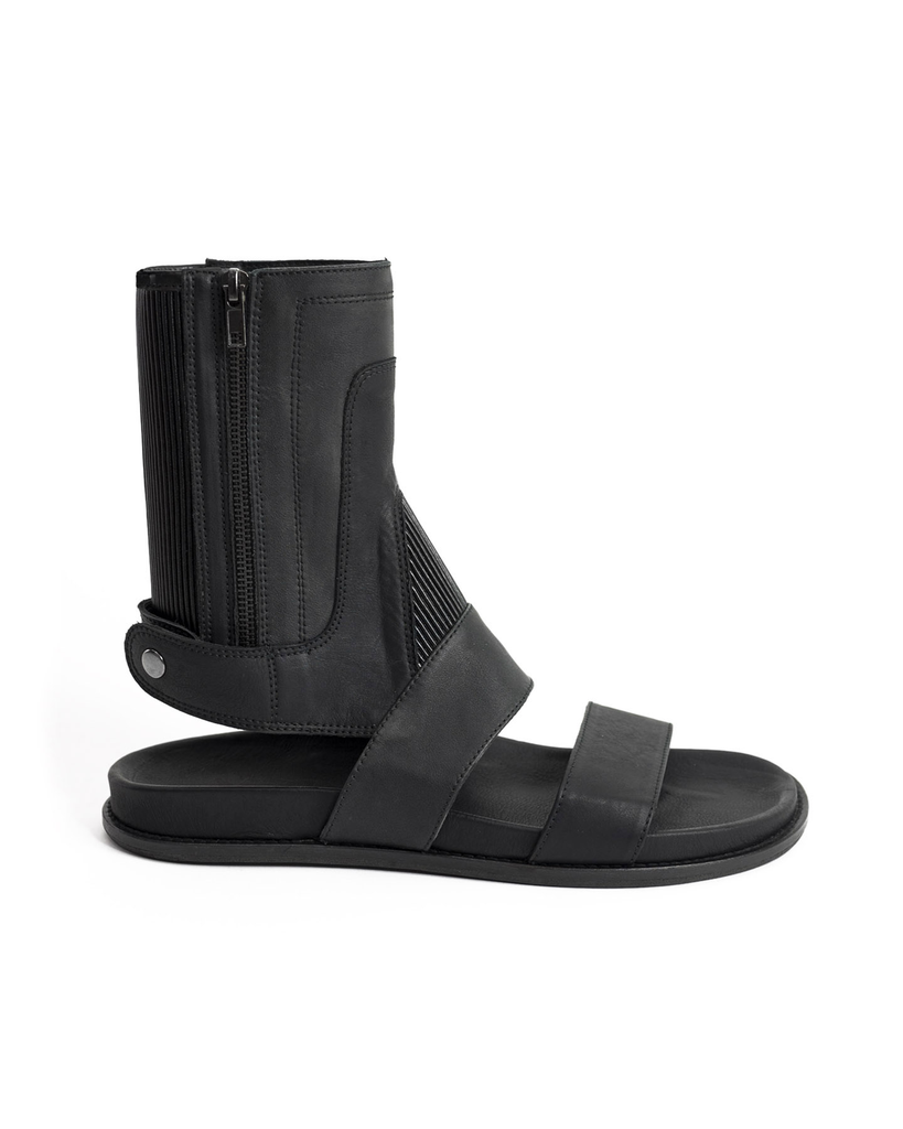 SIDE ZIP OPEN TOE GLADIATOR SANDAL