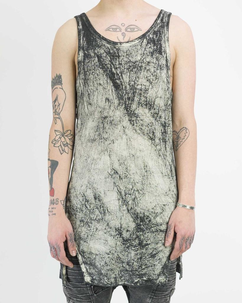 TREATED WASH SILK  TANK TOP
