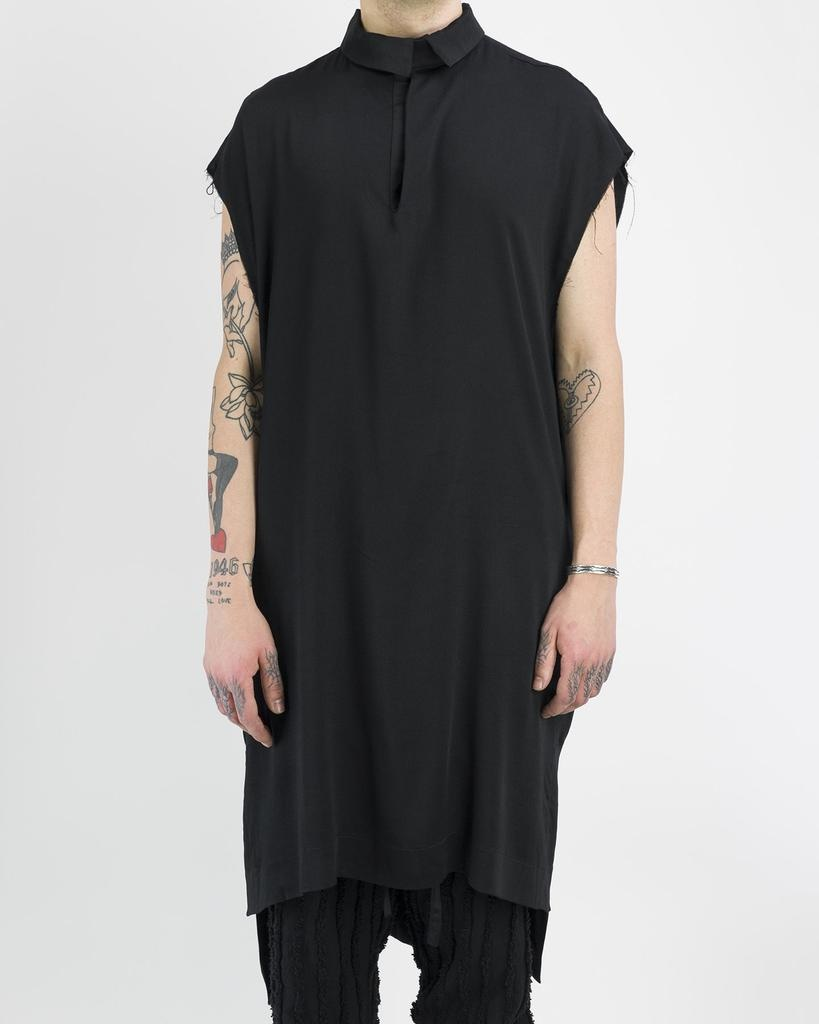 LIGHT COTTON SLEEVELESS SHIRT WITH BELT