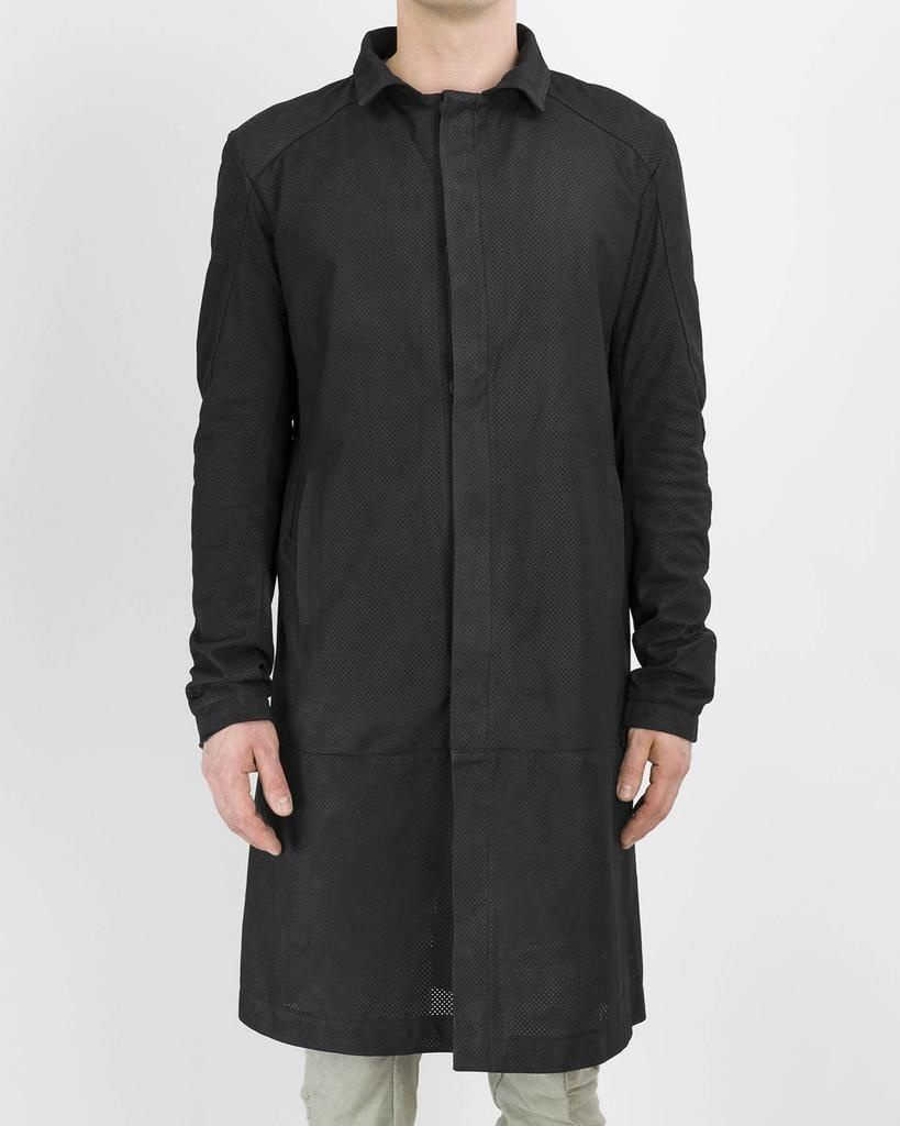PERFORATED LEATHER CAR COAT