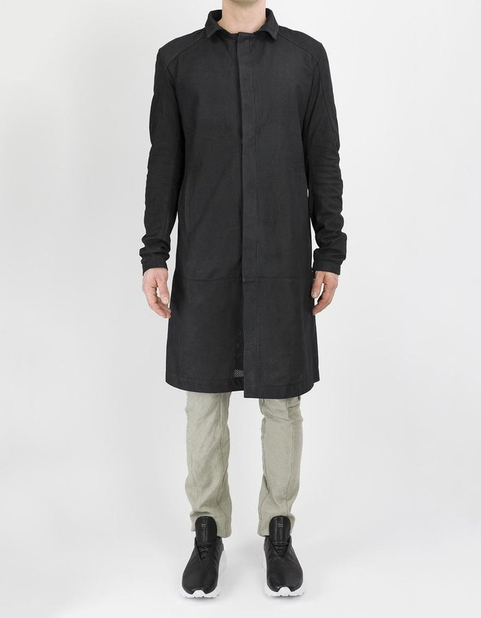 10SEI0OTTO PERFORATED LEATHER CAR COAT