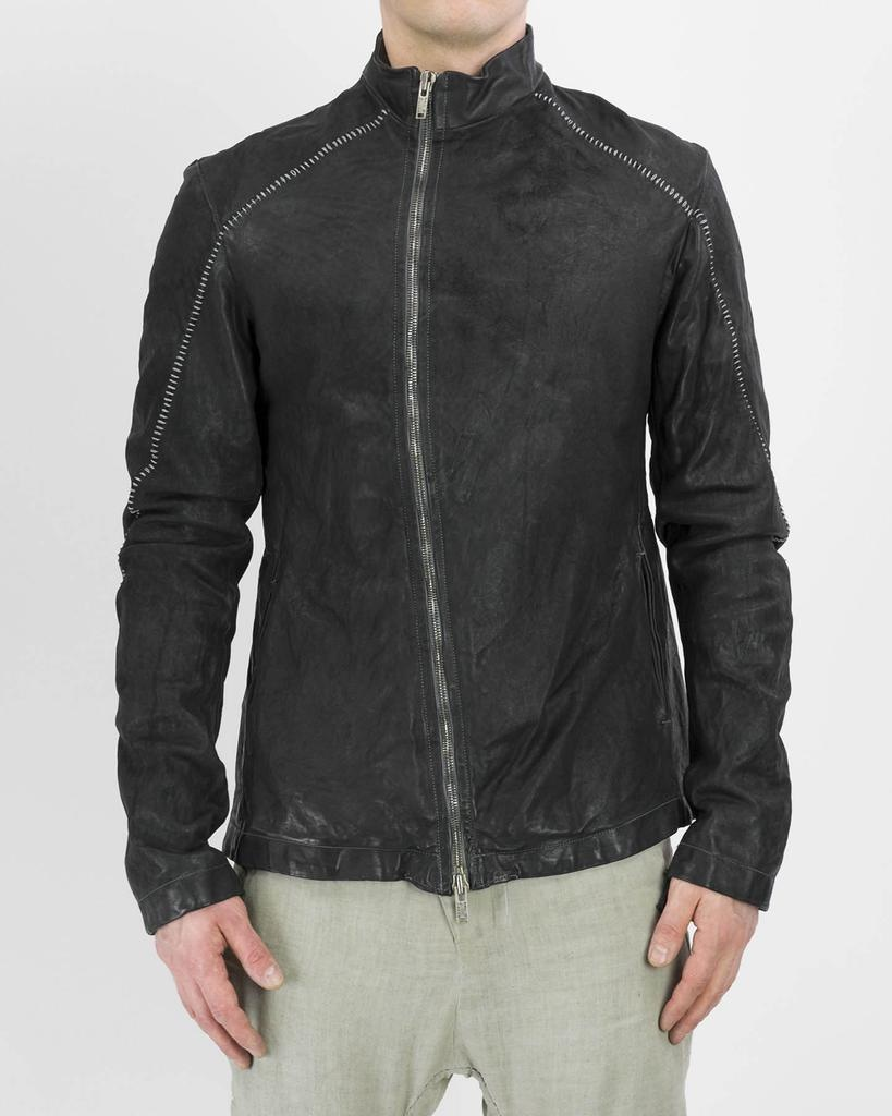 OFF CENTER ZIPPER JACKET