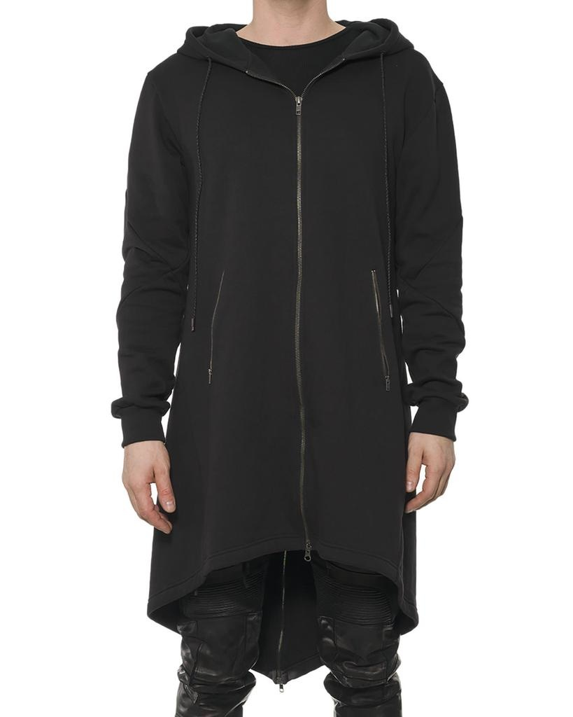 LONG FULL ZIP HOODY