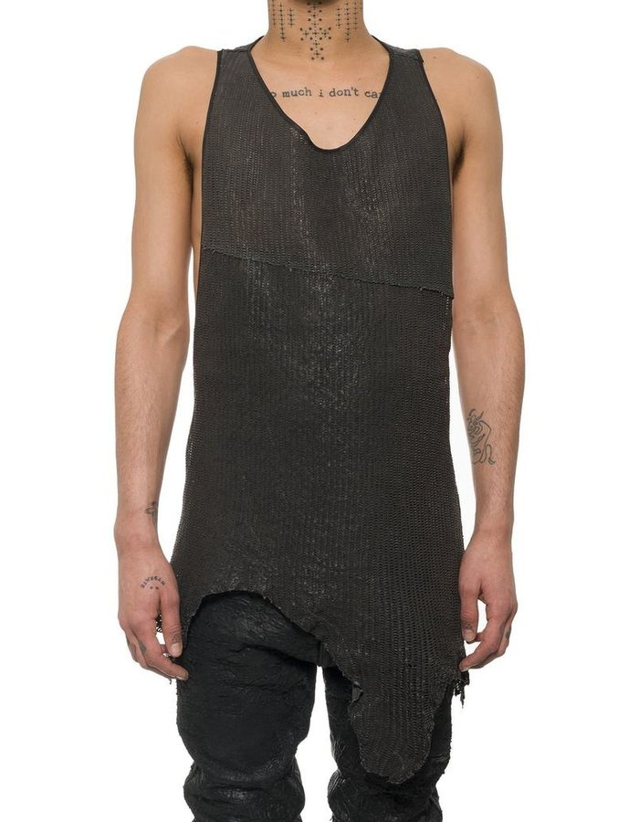 NOSTRA SANTISSIMA NS LEATHER TANK TOP