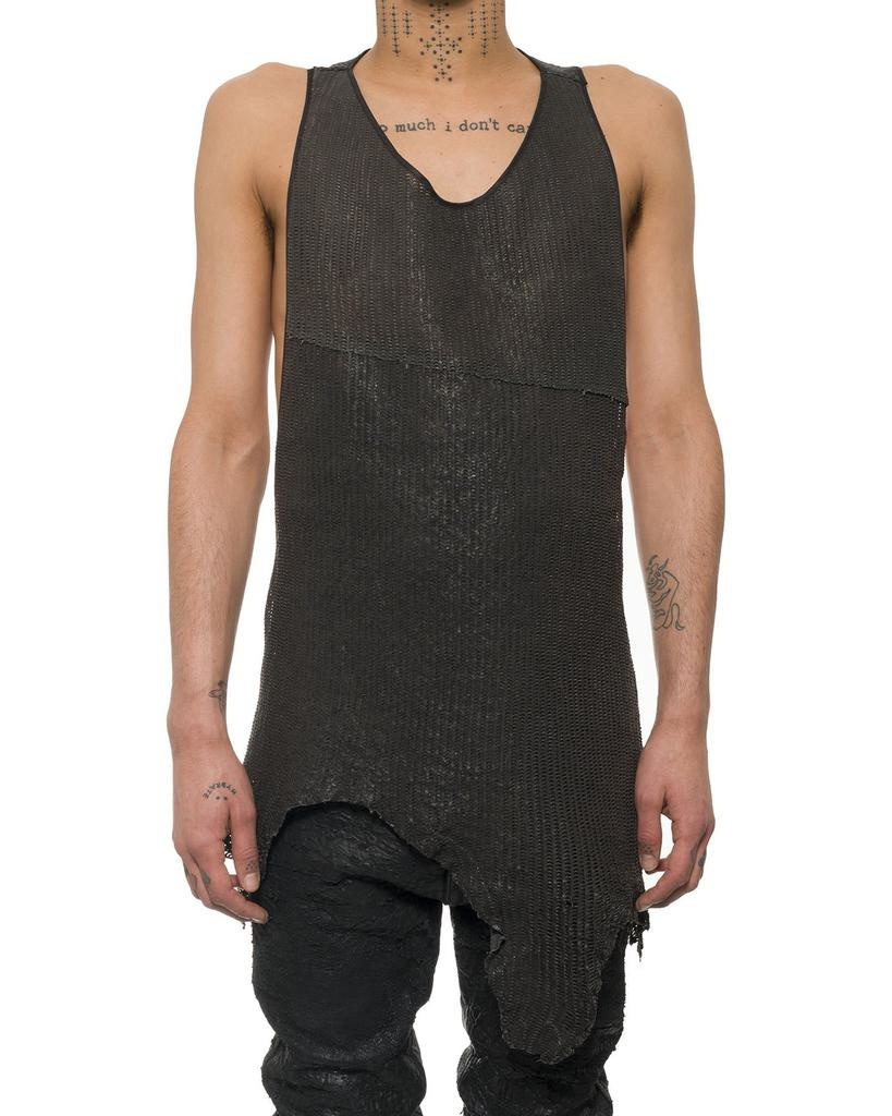 NS LEATHER TANK TOP