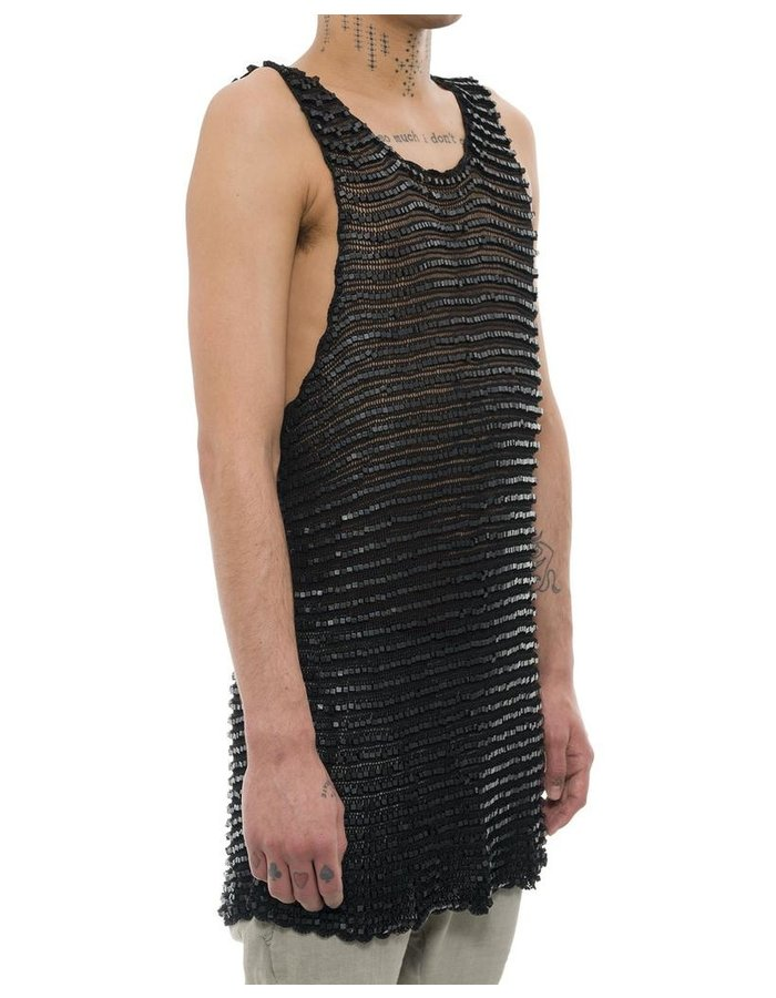 JIAN HUI WOODEN BEAD TANK TOP