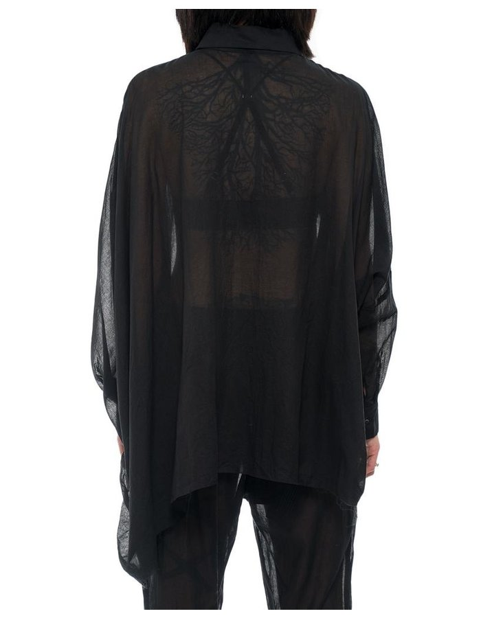 STUDIO B3 WIDE DRAPE SLEEVE BLOUSE