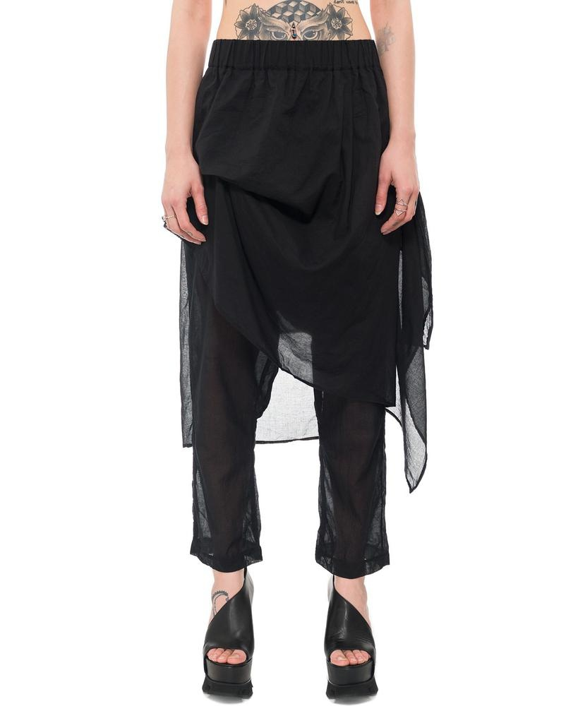 SKIRTED PANEL DROP CROTCH PANT