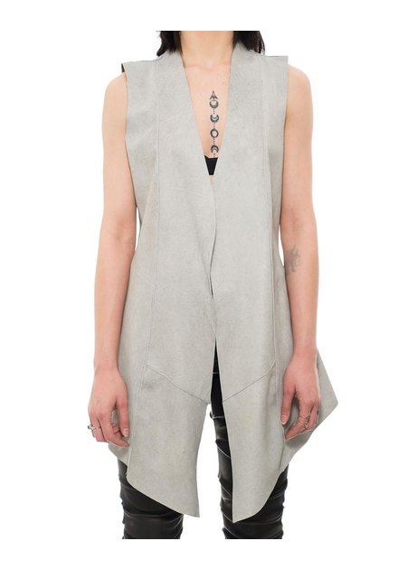 10SEI0OTTO REVERSIBLE LEATHER LONG VEST