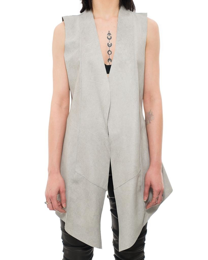 REVERSIBLE LEATHER LONG VEST