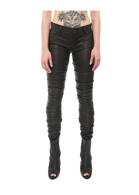 10SEI0OTTO RUCHED LEG LEATHER PANTS