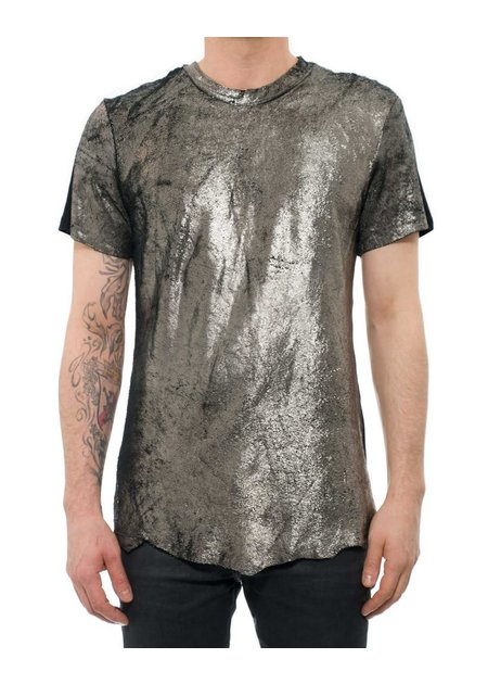 M-OJO RISIN' LEATHER TEE SHIRT SQUAMA