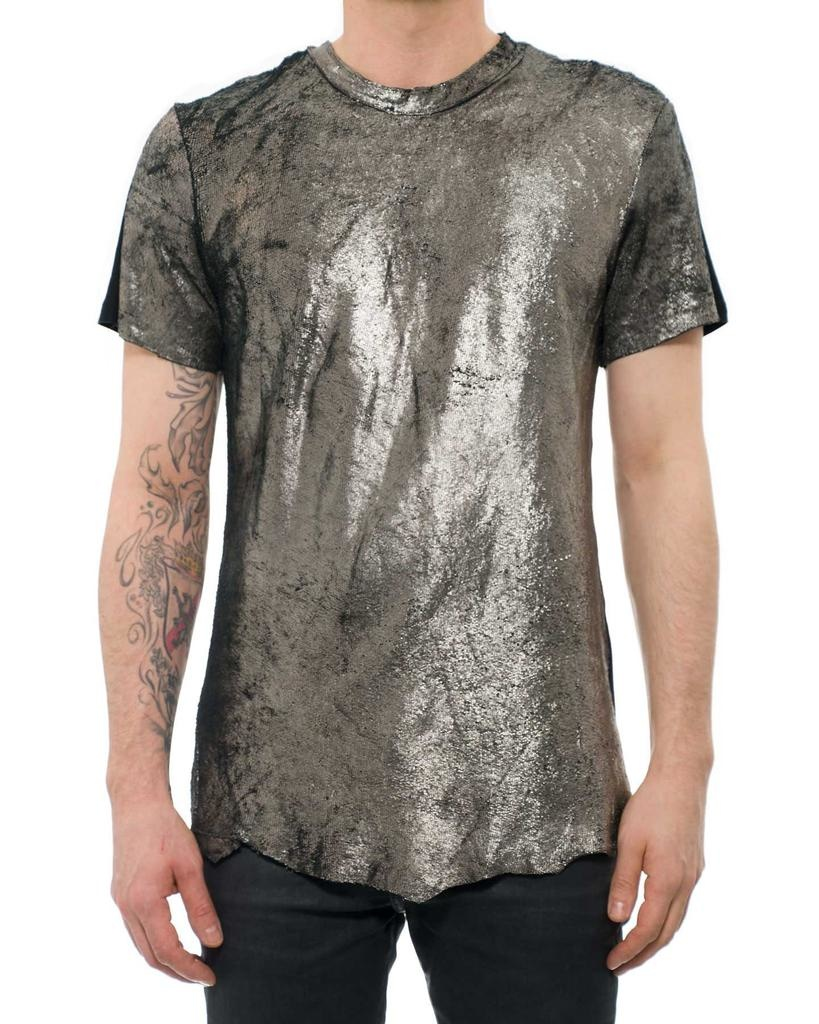 LEATHER TEE SHIRT SQUAMA