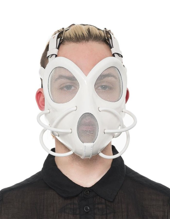 CECILIO LEATHER DESIGNS FACE MASK WITH MESH EYES AND MOUTH