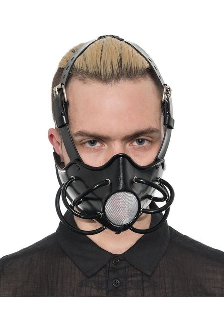 CECILIO LEATHER DESIGNS GAS MASK WITH MESH OPENING