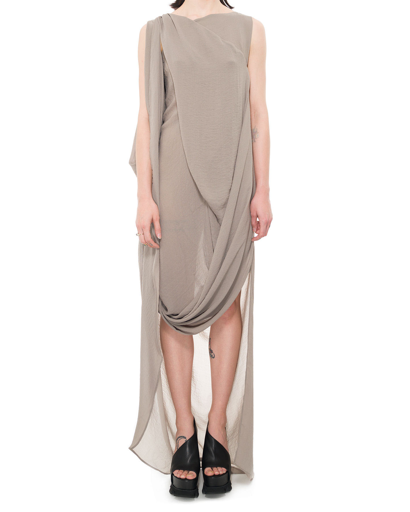 ASYMMETRIC DRAPE FRONT SUMMER DRESS