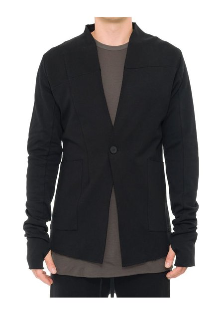 THOM KROM COLLARLESS ONE BUTTON COTTON BLAZER