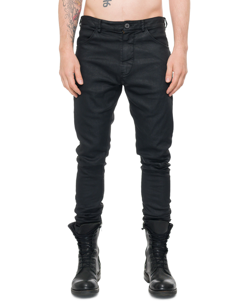 TWISTED SEAM WAXED STRETCH JEANS