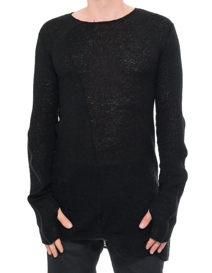 NOSTRA SANTISSIMA ASYMMETRIC HEM LIGHT KNIT SWEATER