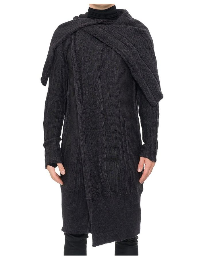 NOSTRA SANTISSIMA CAPE NECK SWEATER COAT