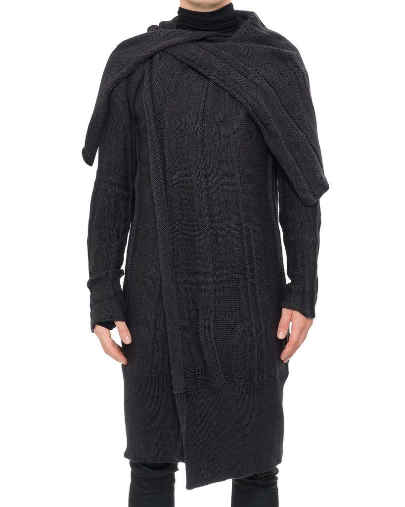 CAPE NECK SWEATER COAT