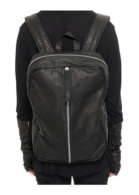 JULIA FOM LEATHER BACKPACK WITH STRAIGHT ZIPPER