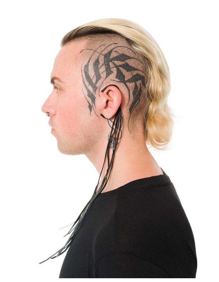 JULIA FOM LEATHER TASSLE EAR CUFFS