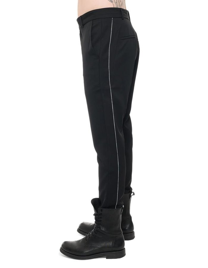 ISABEL BENENATO TAILORED TROUSERS WITH CONTRAST SEAMS