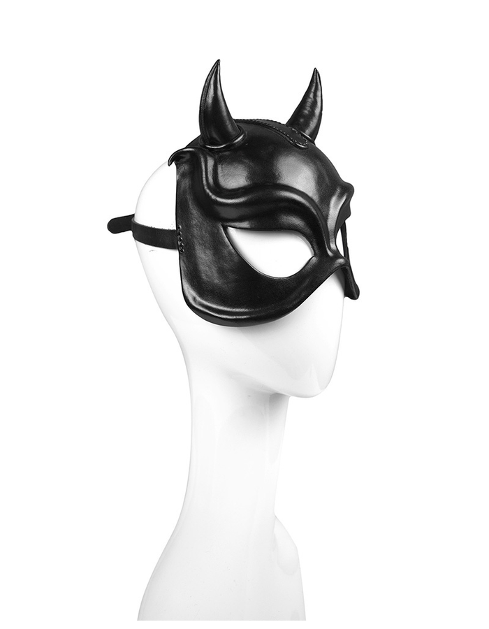 CECILIO LEATHER DESIGNS DEVIL HORNS FACE MASK