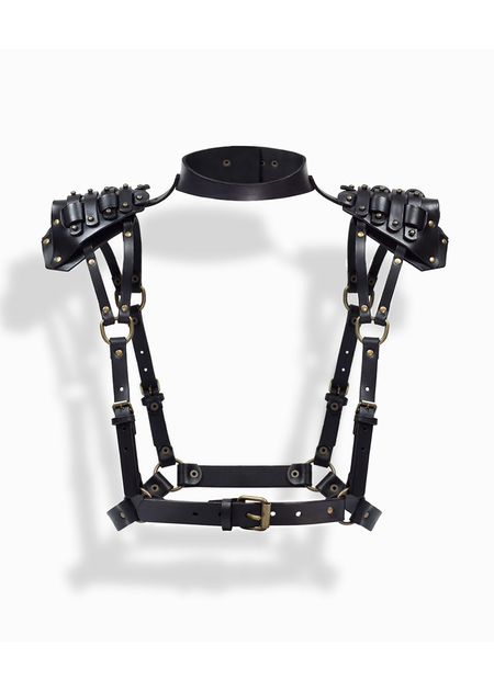 TEO + NG MOREVA LEATHER HARNESS / ANTIQUE SILVER