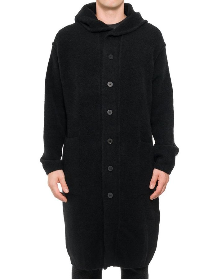 ISABEL BENENATO MONTGOMERY COAT WITH KNITTED YAK INTERIOR