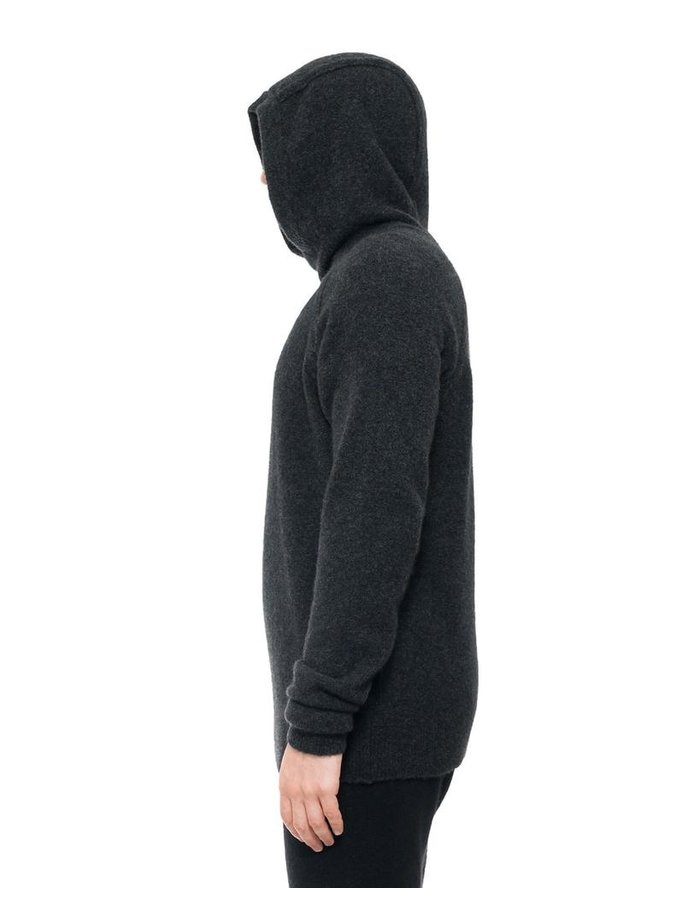 ISABEL BENENATO KNIT YAK PULLOVER HOODY 19
