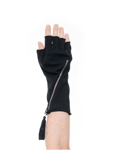 THOM KROM COTTON FINGERLESS GLOVES W/ ZIPPER