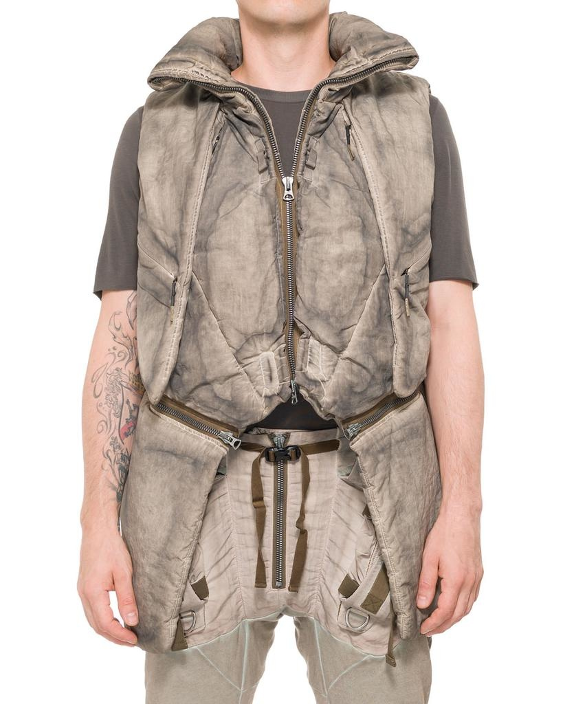MANTA WAISTCOAT WITH CONCEALED CAPE