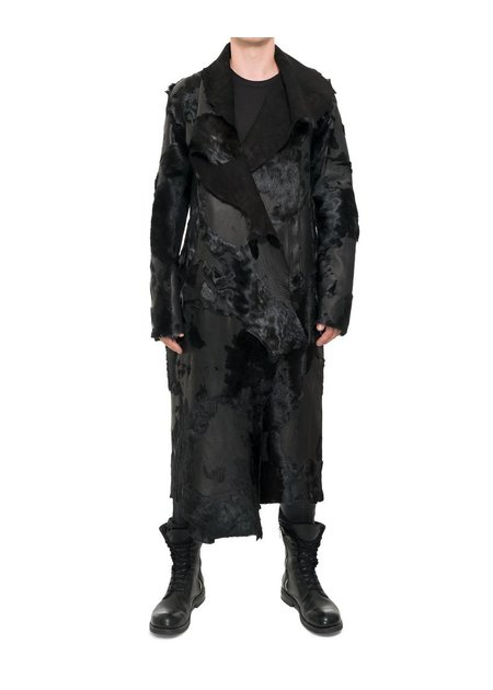 10SEI0OTTO LONG DESTROYED LEATHER COAT