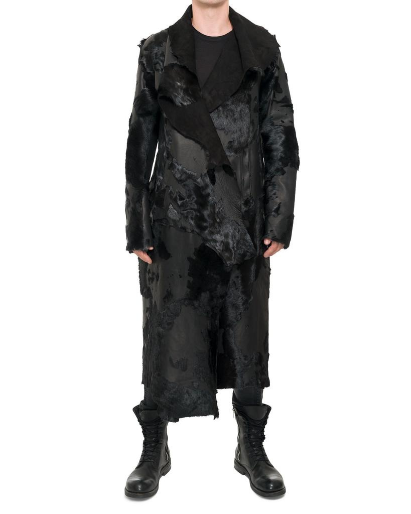 LONG DESTROYED LEATHER COAT