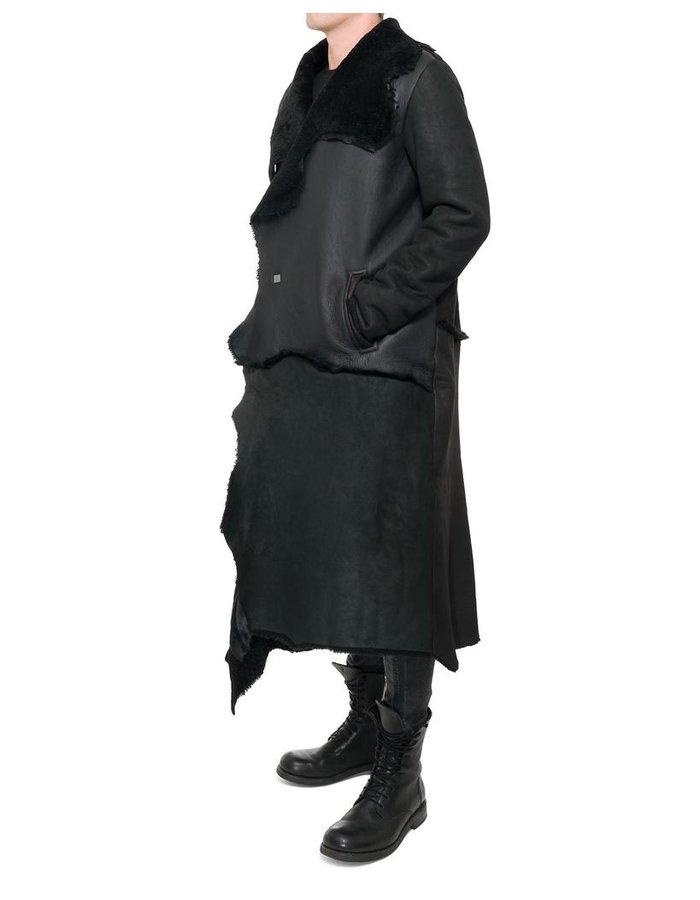 10SEI0OTTO LONG SHEEPSKIN PATCHWORK COAT