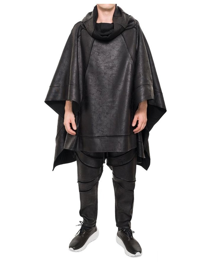 DAVID'S ROAD UNISEX LEATHER EFFECT PONCHO