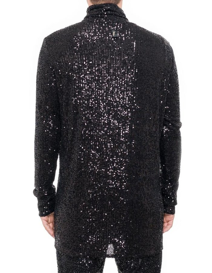 DAVID'S ROAD SEQUIN TURTLENECK TOP