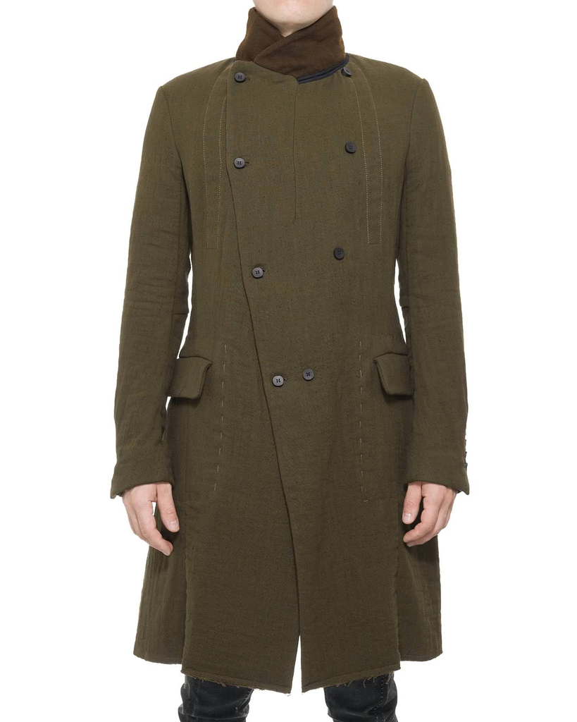WOOL COTTON GREAT COAT