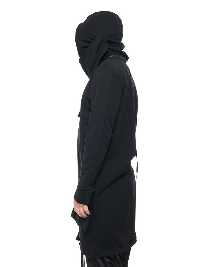 LA HAINE INSIDE US FLEECE CARDIGAN WITH REMOVABLE HOOD BARO