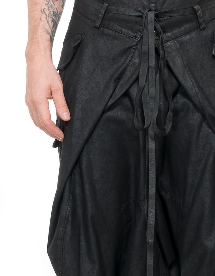 LA HAINE INSIDE US STRECH LAMINATED LOW TROUSER BELLO