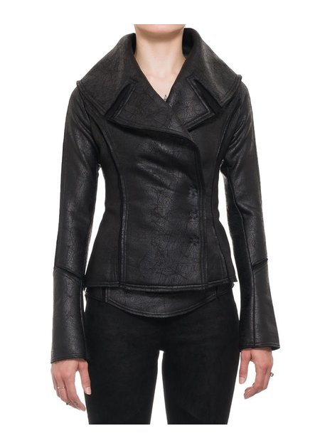 DAVID'S ROAD LEATHER EFFECT BLAZER