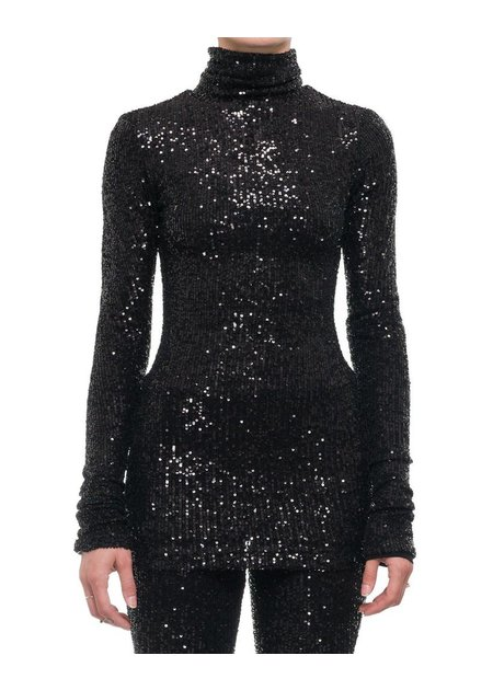 DAVID'S ROAD SEQUIN TURTLENECK W