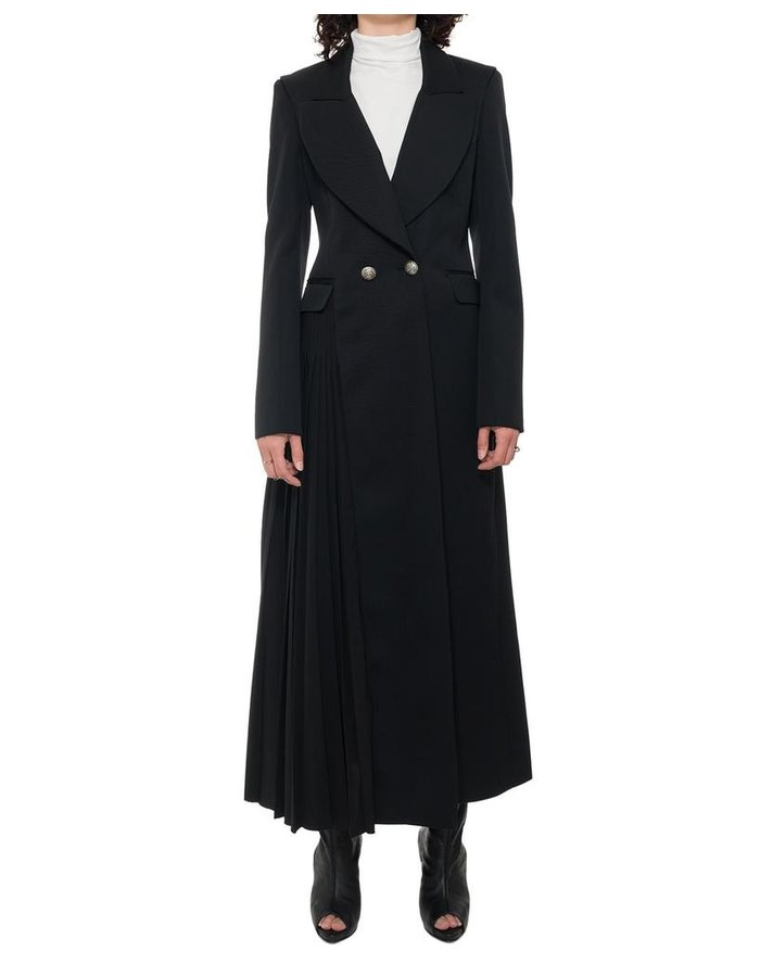 ISABEL BENENATO SIDE PLEATED LONG COAT JACKET