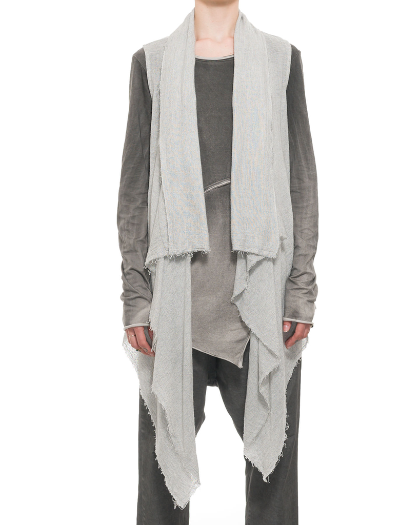 VISCOSE AND WOOL DRAPE VEST