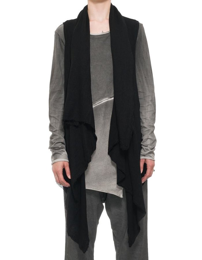 STUDIO B3 VISCOSE AND WOOL DRAPE VEST