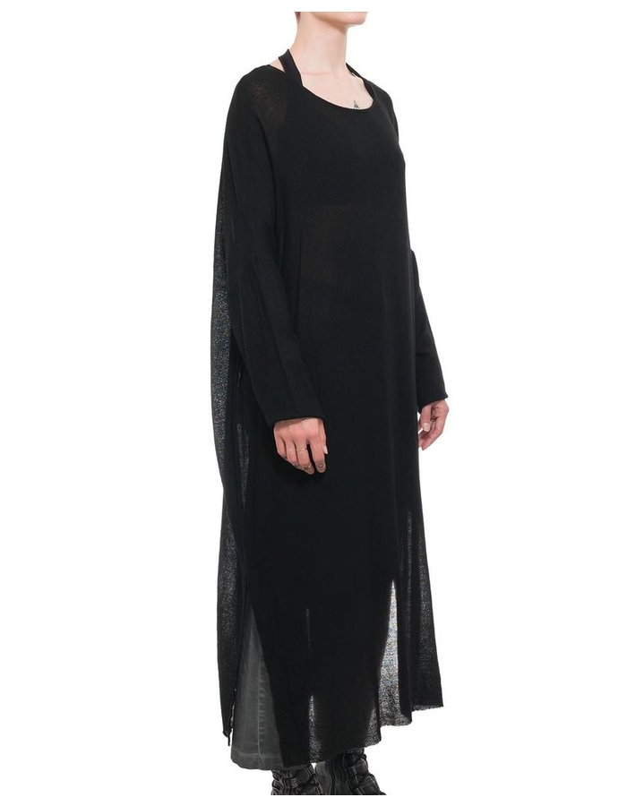 STUDIO B3 OVERSIZED VISCOSE AND WOOL TUNIC